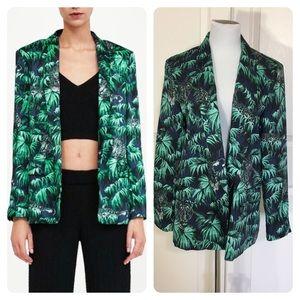 Zara jungle print blazer